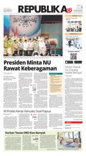 Cover Koran Republika 01 Februari 2019