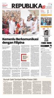 Cover Koran Republika 03 Februari 2019