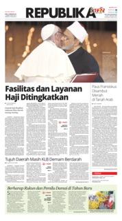 Cover Koran Republika 06 Februari 2019