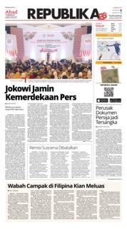 Cover Koran Republika 10 Februari 2019