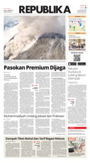 Cover Koran Republika 12 Februari 2019