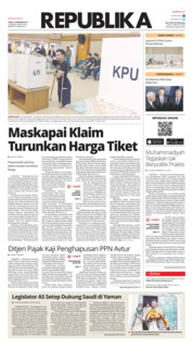 Cover Koran Republika 15 Februari 2019