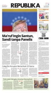Cover Koran Republika 20 Februari 2019