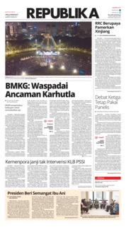 Cover Koran Republika 22 Februari 2019