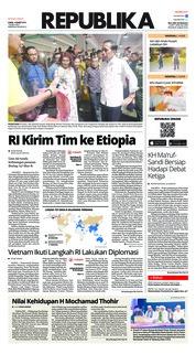 Cover Koran Republika 14 Maret 2019