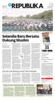 Cover Koran Republika 23 Maret 2019