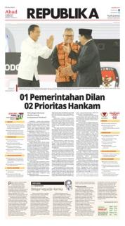 Cover Koran Republika 31 Maret 2019