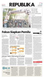 Cover Koran Republika 01 April 2019