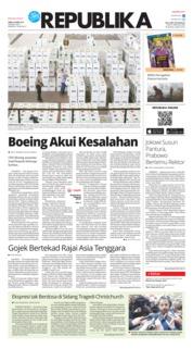 Cover Koran Republika 06 April 2019