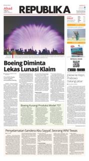 Cover Koran Republika 07 April 2019