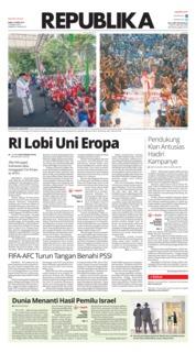 Cover Koran Republika 10 April 2019