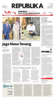 Cover Koran Republika 15 April 2019