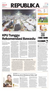 Cover Koran Republika 21 April 2019