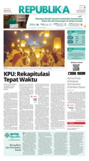 Cover Koran Republika 20 Mei 2019