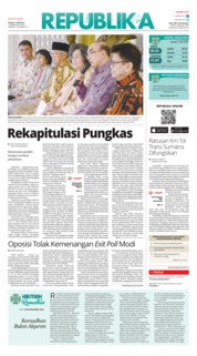 Cover Koran Republika 21 Mei 2019