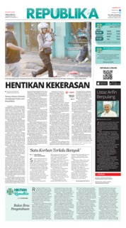 Cover Koran Republika 23 Mei 2019