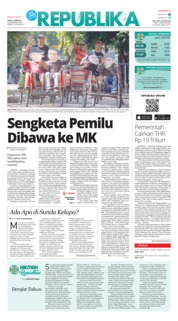 Cover Koran Republika 25 Mei 2019