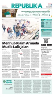 Cover Koran Republika 27 Mei 2019