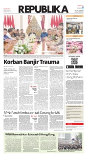 Cover Koran Republika 13 Juni 2019
