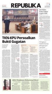 Cover Koran Republika 19 Juni 2019