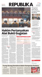 Cover Koran Republika 20 Juni 2019