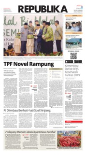 Cover Koran Republika 18 Juli 2019
