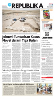 Cover Koran Republika 20 Juli 2019