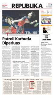 Cover Koran Republika 21 Juli 2019
