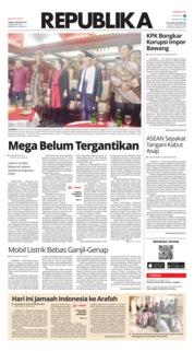 Cover Koran Republika 09 Agustus 2019