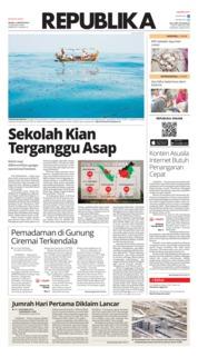 Cover Koran Republika 13 Agustus 2019
