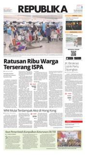 Cover Koran Republika 14 Agustus 2019