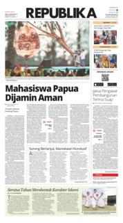 Cover Koran Republika 21 Agustus 2019