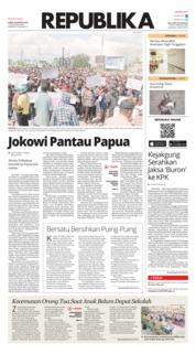 Cover Koran Republika 22 Agustus 2019