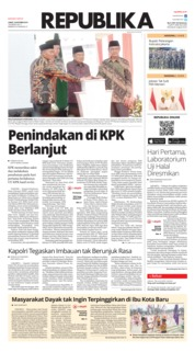 Cover Koran Republika 18 Oktober 2019