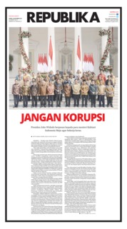 Cover Koran Republika 24 Oktober 2019