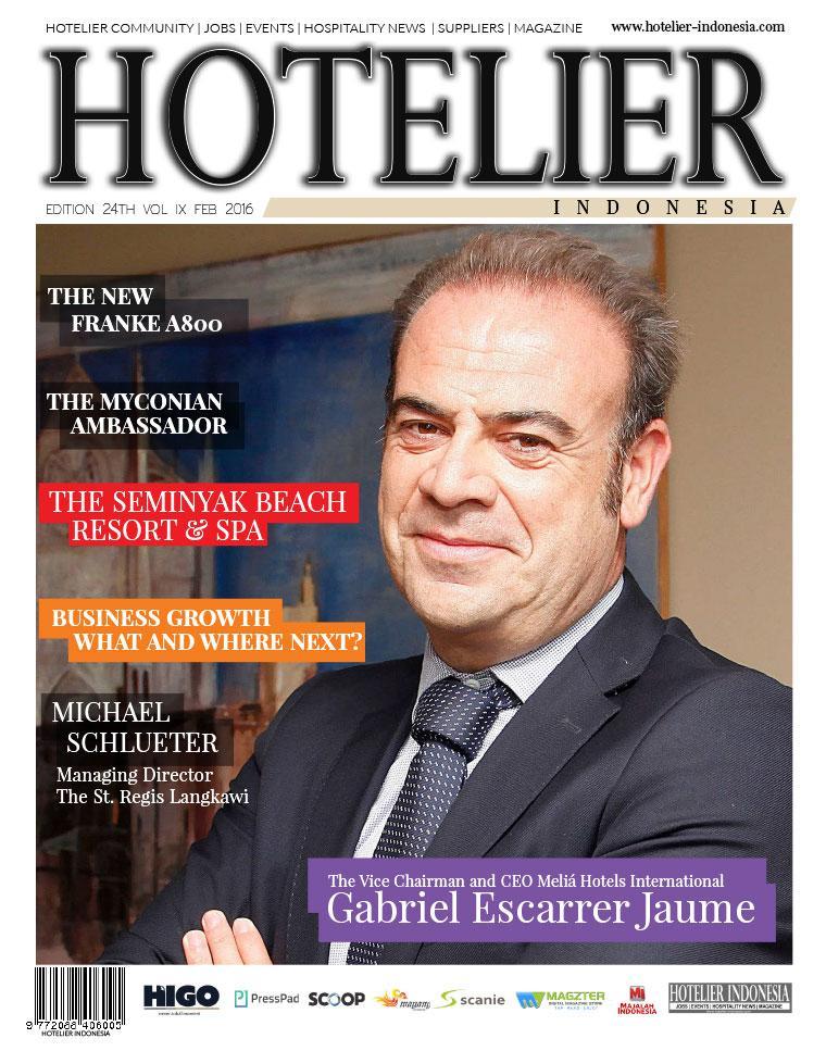 Majalah Digital HOTELIER INDONESIA ED 24 Februari 2016