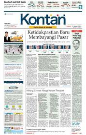 Cover Koran Kontan 23 Maret 2018