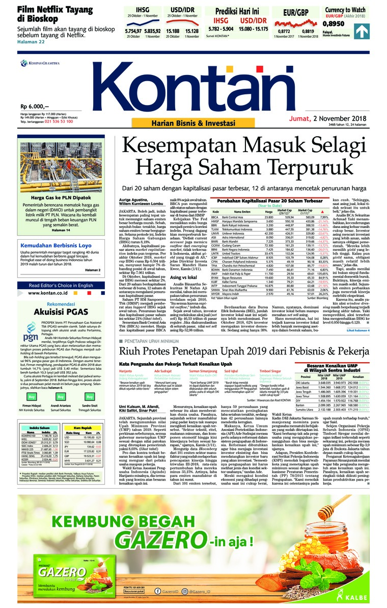 Koran Digital Koran Kontan 02 November 2018
