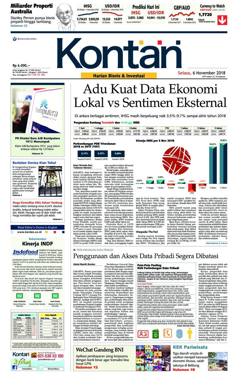 Koran Digital Koran Kontan 06 November 2018
