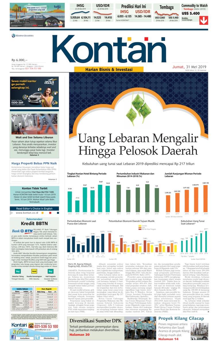 Koran Digital Koran Kontan 31 Mei 2019