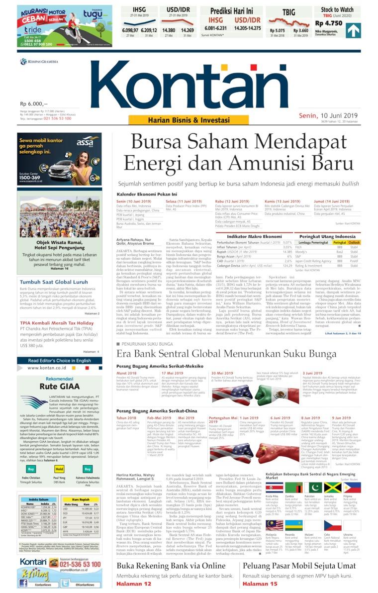 Koran Digital Koran Kontan 10 Juni 2019