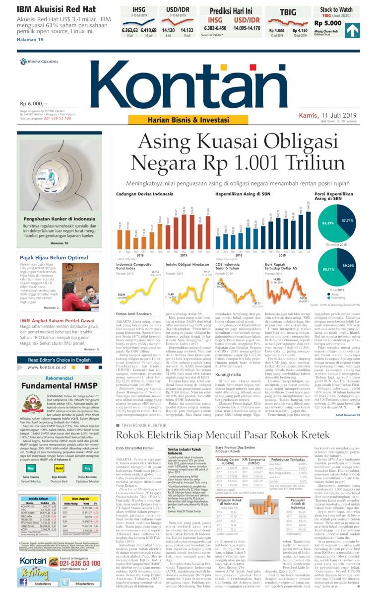 Koran Digital Koran Kontan 11 Juli 2019