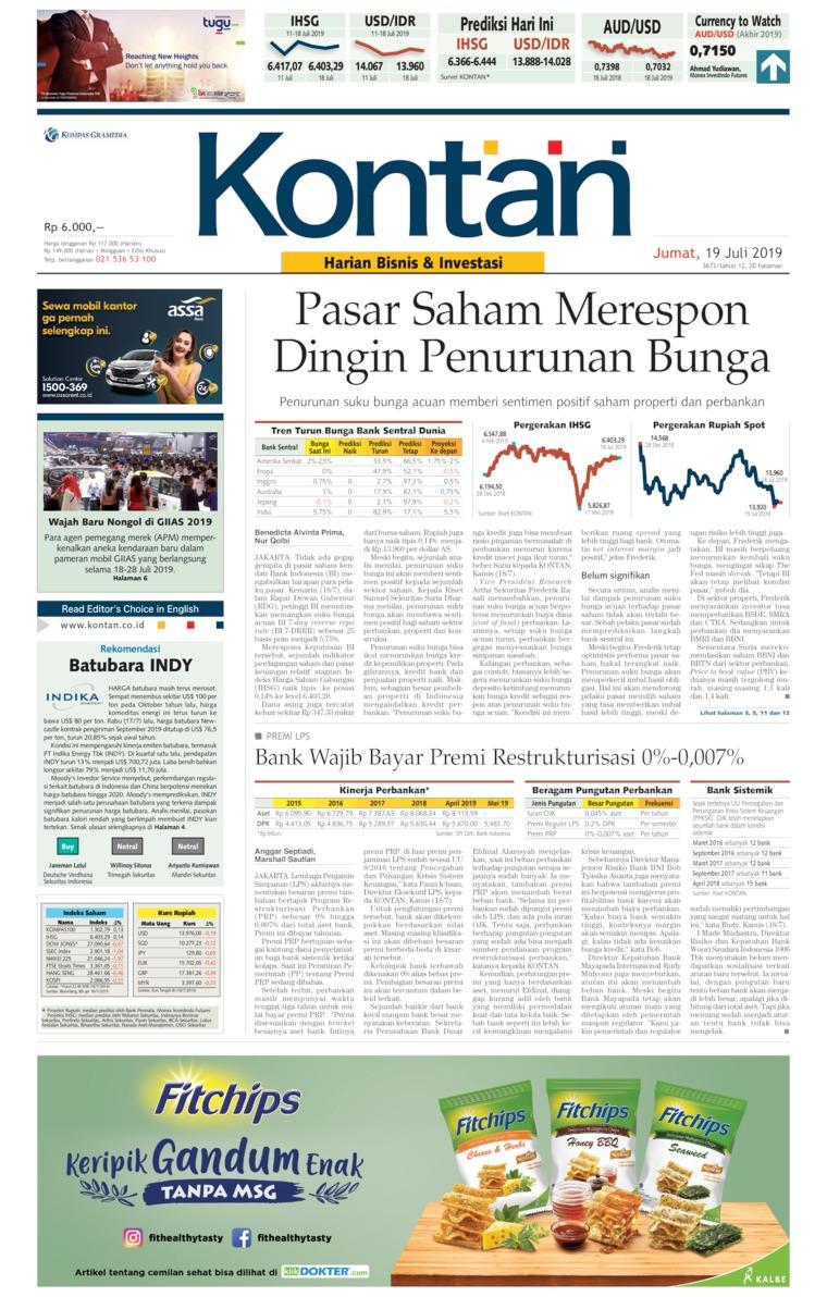 Koran Digital Koran Kontan 19 Juli 2019