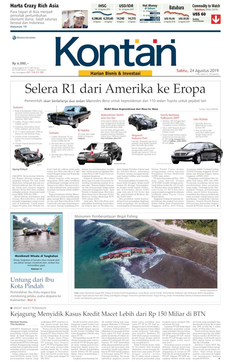 Koran Digital Koran Kontan 24 Agustus 2019