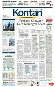 Cover Koran Kontan 12 Februari 2018