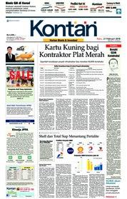 Cover Koran Kontan 21 Februari 2018