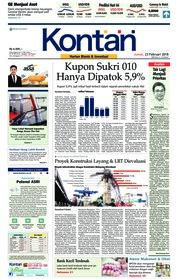 Cover Koran Kontan 23 Februari 2018