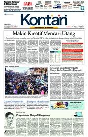 Cover Koran Kontan 24 Februari 2018