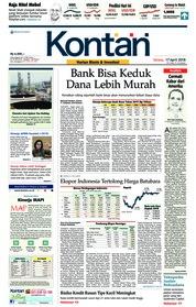 Cover Koran Kontan 17 April 2018
