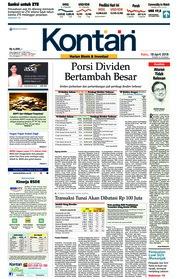 Cover Koran Kontan 18 April 2018